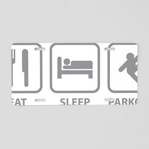 eatSleepParkour1D Aluminum License Plate