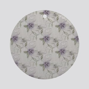 Lilacs Round Ornament
