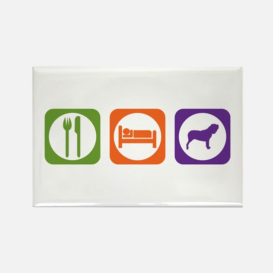 Eat Sleep Neo Rectangle Magnet (100 pack)