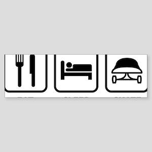 eatSleepSkatebo1A Sticker (Bumper)