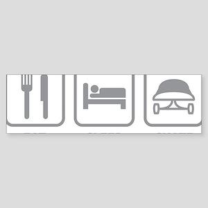 eatSleepSkatebo1C Sticker (Bumper)