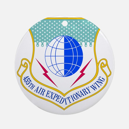USAF 455th Air Expeditionary Wing Round Ornament