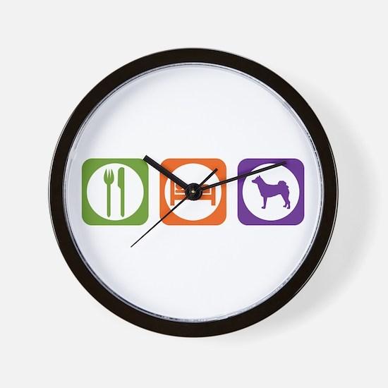 Eat Sleep Norrbottenspets Wall Clock