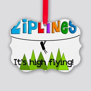 ziplines 3 Picture Ornament