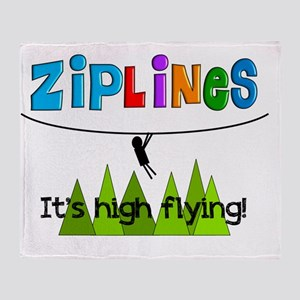 ziplines 3 Throw Blanket