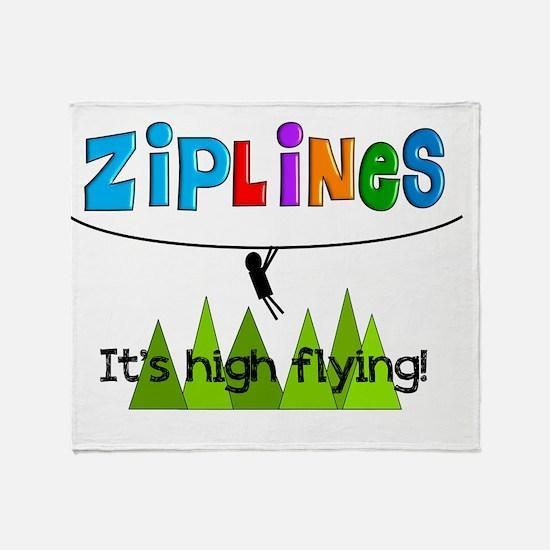 ziplines 3 Throw Blanket