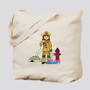 Firefighter Woman Tote Bag