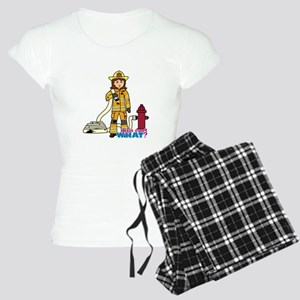 Firefighter Woman Women's Light Pajamas