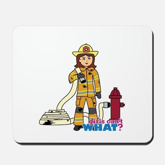 Firefighter Woman Mousepad