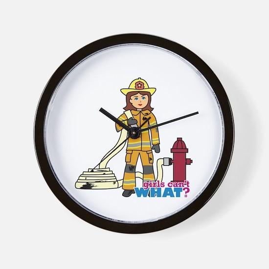 Firefighter Woman Wall Clock