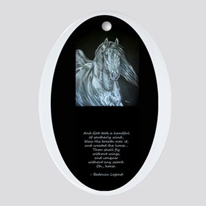 Legend of the Horse Oval Ornament