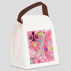 Love in Paris Canvas Lunch Bag