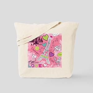 Love in Paris Tote Bag
