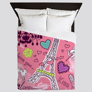 Love in Paris Queen Duvet