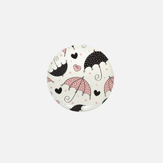 Cute Umbrellas Mini Button