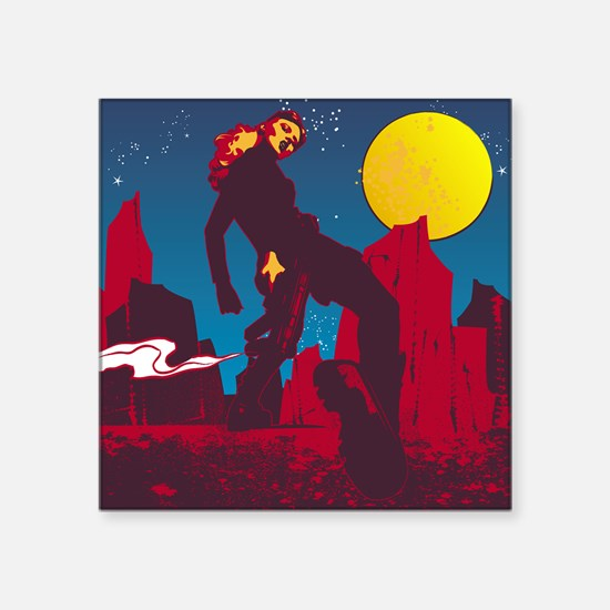 """Mars the Red Planet Square Sticker 3"""" x 3"""""""