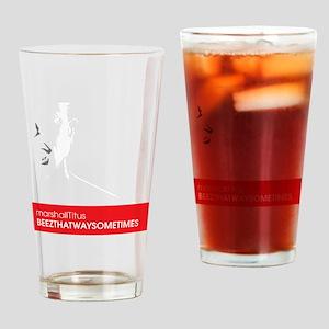 Marshall Beez Wht Drinking Glass