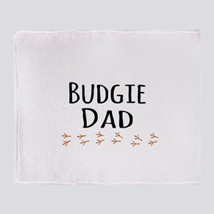 Budgie Dad Throw Blanket