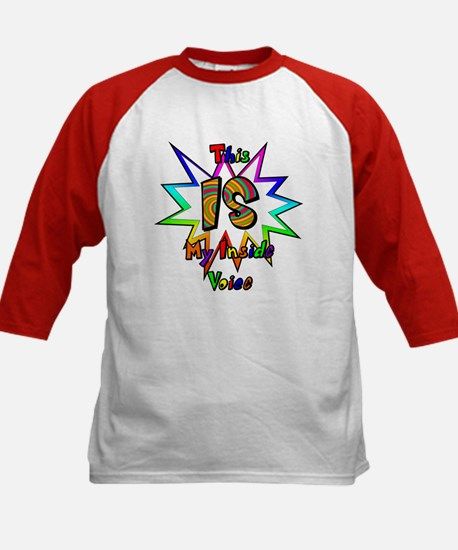 This IS My Inside Voice Kids Baseball Jersey