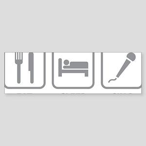 eatSleepSing1C Sticker (Bumper)