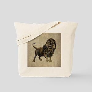 Vintage Lion Tote Bag