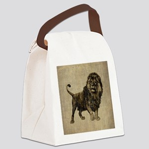 Vintage Lion Canvas Lunch Bag