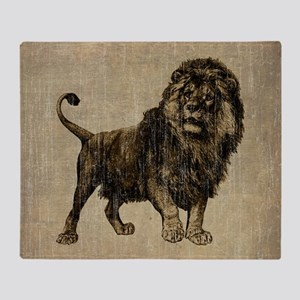 Vintage Lion Throw Blanket