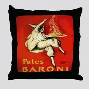 Cappiello Pates Baroni Spaghetti Post Throw Pillow