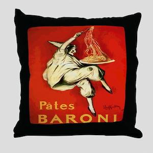 Cappiello Pates Baroni Spaghetti Post Throw Pillow