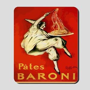 Cappiello Pates Baroni Spaghetti Poster Mousepad