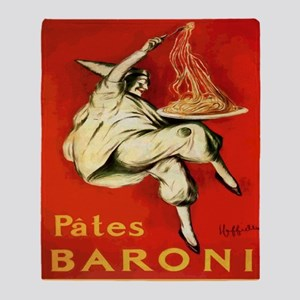 Cappiello Pates Baroni Spaghetti Pos Throw Blanket