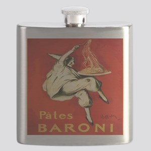 Cappiello Pates Baroni Spaghetti Poster Flask