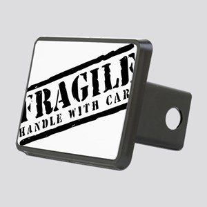 Fragile Handle With Care Rectangular Hitch Cover