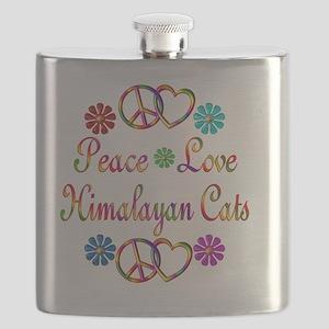 Peace Love Himalayan Cats Flask