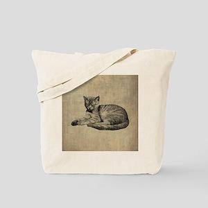Cute Vintage Cat Tote Bag