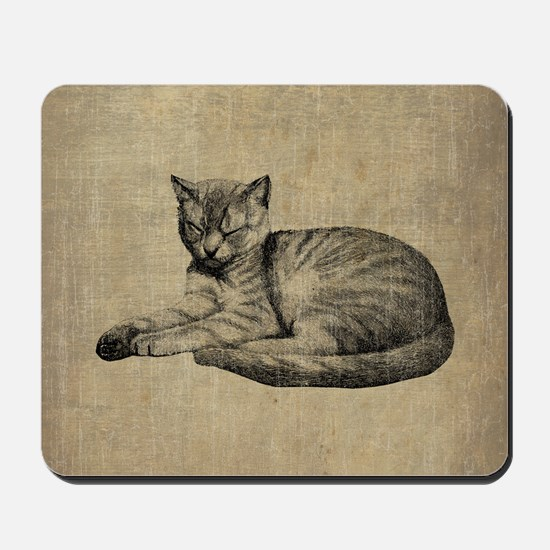 Cute Vintage Cat Mousepad