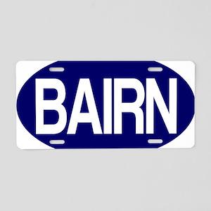 Bairn (Blue) for white Aluminum License Plate