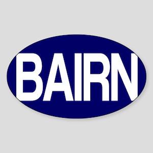 Bairn (Blue) for white Sticker (Oval)