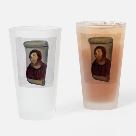 Jesus Fresco full Drinking Glass