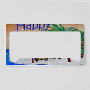 Happy Camper License Plate Holder