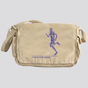 Running Man in Words (rwt) Messenger Bag