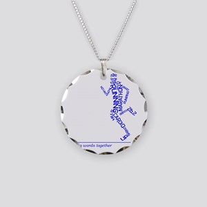 Running Man in Words (rwt) Necklace Circle Charm