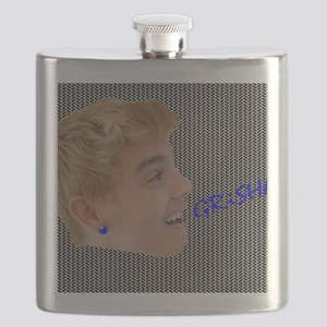 Blue Accented Profile Flask