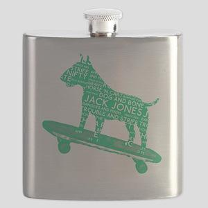 Vintage London Slang Skateboarding Bull Terr Flask