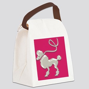 1950 Poodle Canvas Lunch Bag