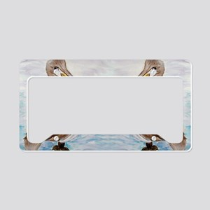 Brown Pelicans License Plate Holder