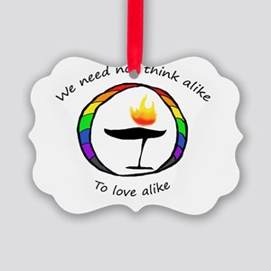 Rainbow Chalice Picture Ornament