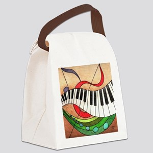 Colorful Music Canvas Lunch Bag