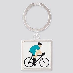 evolution bicycle racer Square Keychain