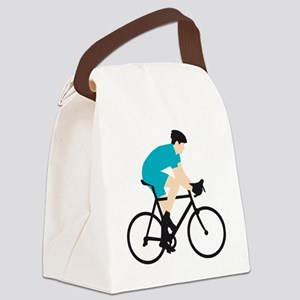 evolution bicycle racer Canvas Lunch Bag